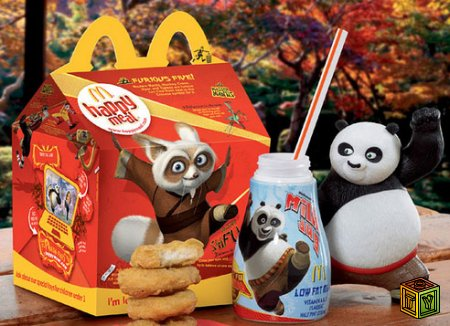 Панда Кунг-фу в McDonald's