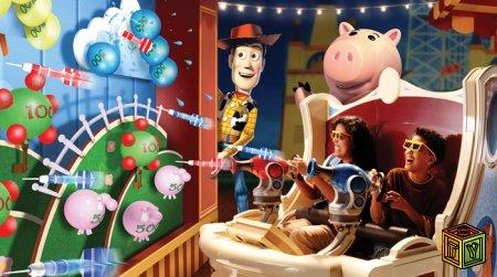 Toy Story Mania игровая приставка аттракцион