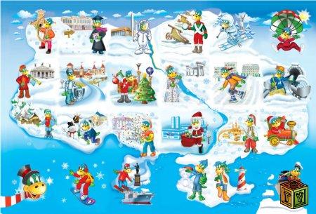 Зимняя Карта Растишка