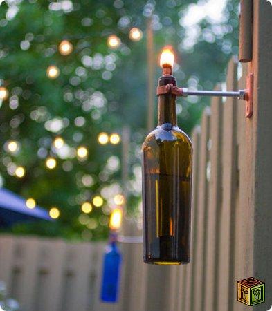 Как сделать факел из бутылки своими руками