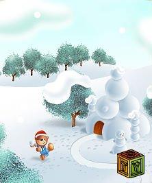 Барни строит снежный замок