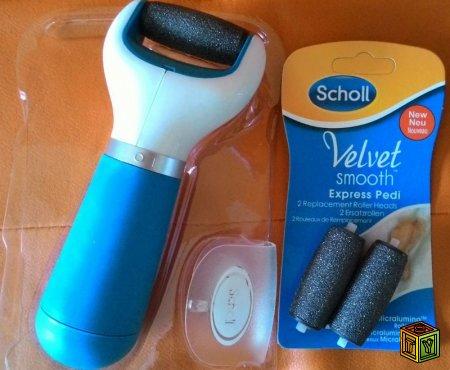 Электрическая пилка для пяточек Velvet Smooth, Scholl
